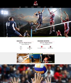 sito web modello n. 10088 per sito web per squadra di pallavolo