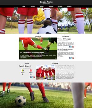 sito web modello n. 10009 per sito web per squadra di calcio