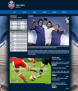 sito web modello n. 10011 per sito web per squadra di calcio