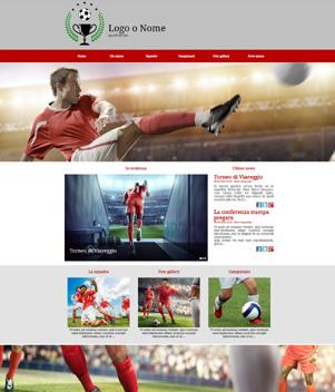 sito web modello n. 10012 per sito web per squadra di calcio