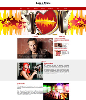 sito web modello n. 10016 per sito web per radio