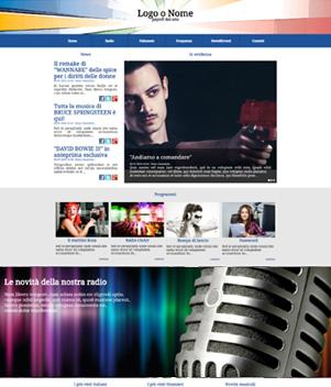 sito web modello n. 10017 per sito web per radio