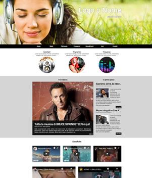sito web modello n. 10018 per sito web per radio