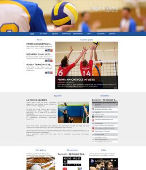 sito web modello n. 10036 per sito web per squadra di pallavolo