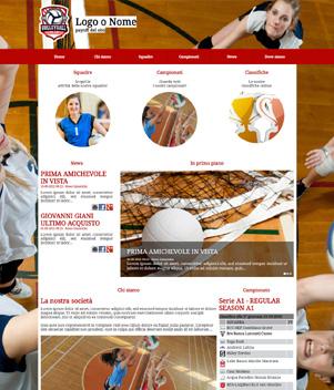 sito web modello n. 10037 per sito web per squadra di pallavolo
