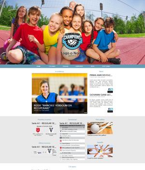 sito web modello n. 10038 per sito web per squadra di pallavolo