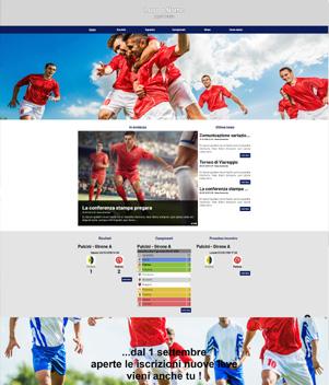 sito web modello n. 10061 per sito web per squadra di calcio