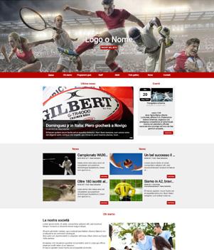 sito web modello n. 10064 per sito web per sport generico