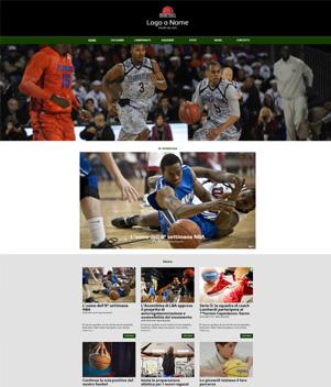 sito web modello n. 10074 per sito web per squadra di basket