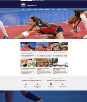sito web modello n. 10087 per sito web per squadra di pallavolo