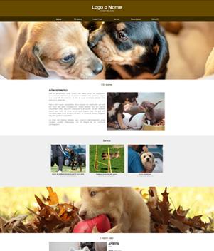 sito web modello n. 10090 per sito web per allevamento di cani