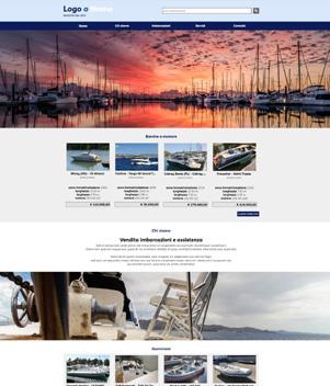 sito web modello n. 10091 per sito web per nautica